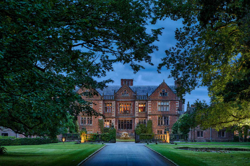 As You Gaze Down The Long Straight Driveway There It Is Magnificent Dorfold Hall In All Its Glory