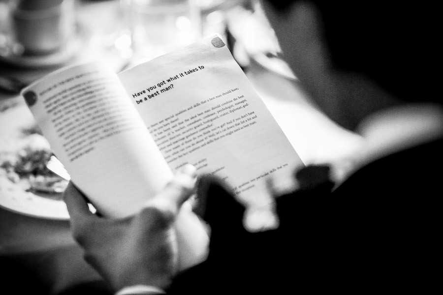 Bridebook.co.uk- best man reading a book about being a best man