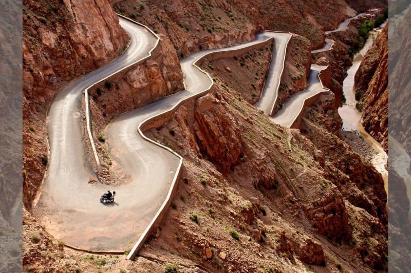 Bridebook.co.uk- motorbike on a winding road