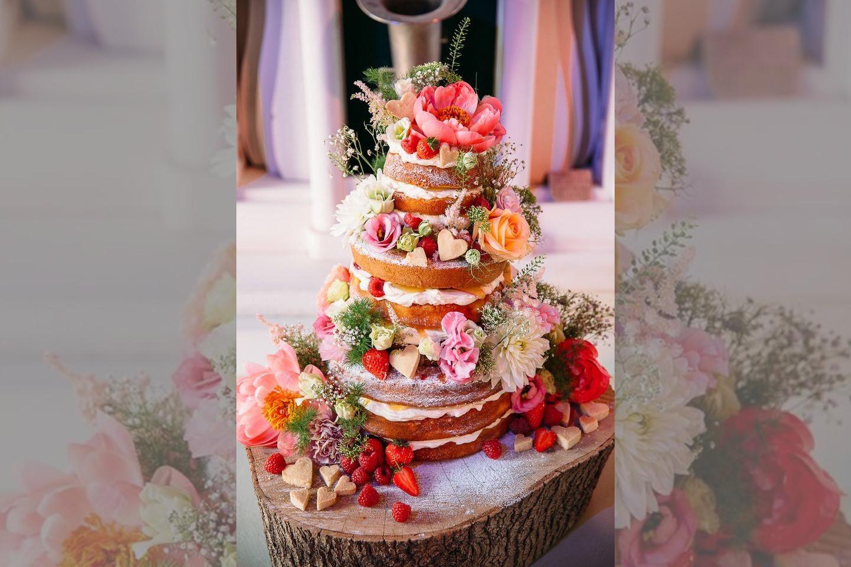 bridebook.co.uk naked wedding cake by Frances Quinn