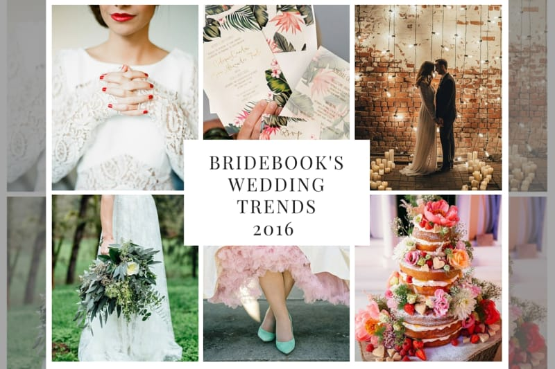 bridebook.co.uk wedding trends collage