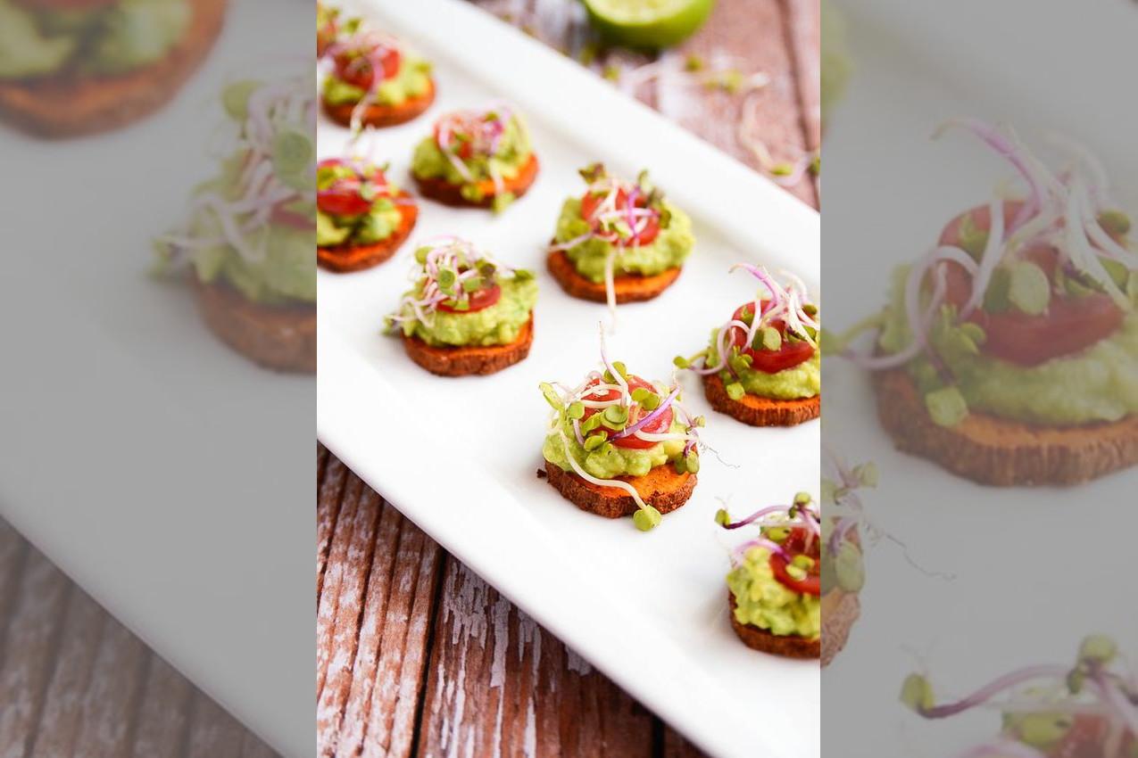 bridebook.co.uk healthy avocado wedding canapes