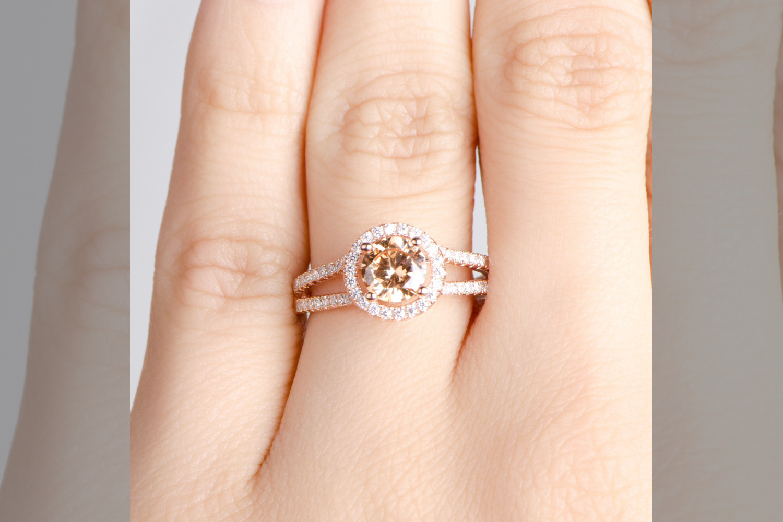 bridebook.co.uk rose gold engagement ring