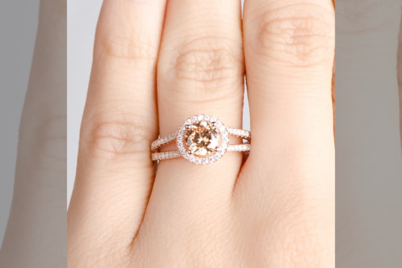 bridebook.co.uk rose gold engagement ring