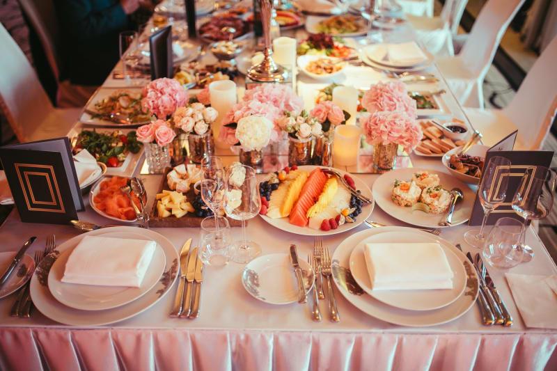 Bridebook.co.uk high tea wedding table set up