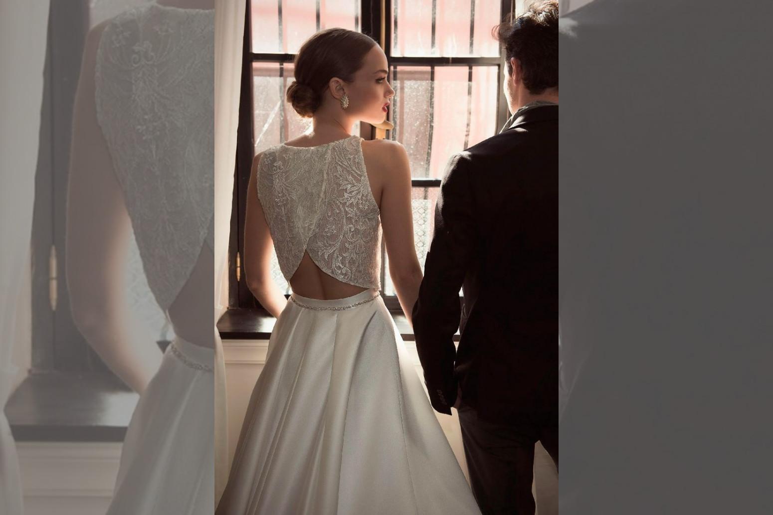 bridebook.co.uk two piece wedding dress
