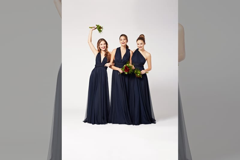 bridebook.co.uk-twobirds navy dresses smiling