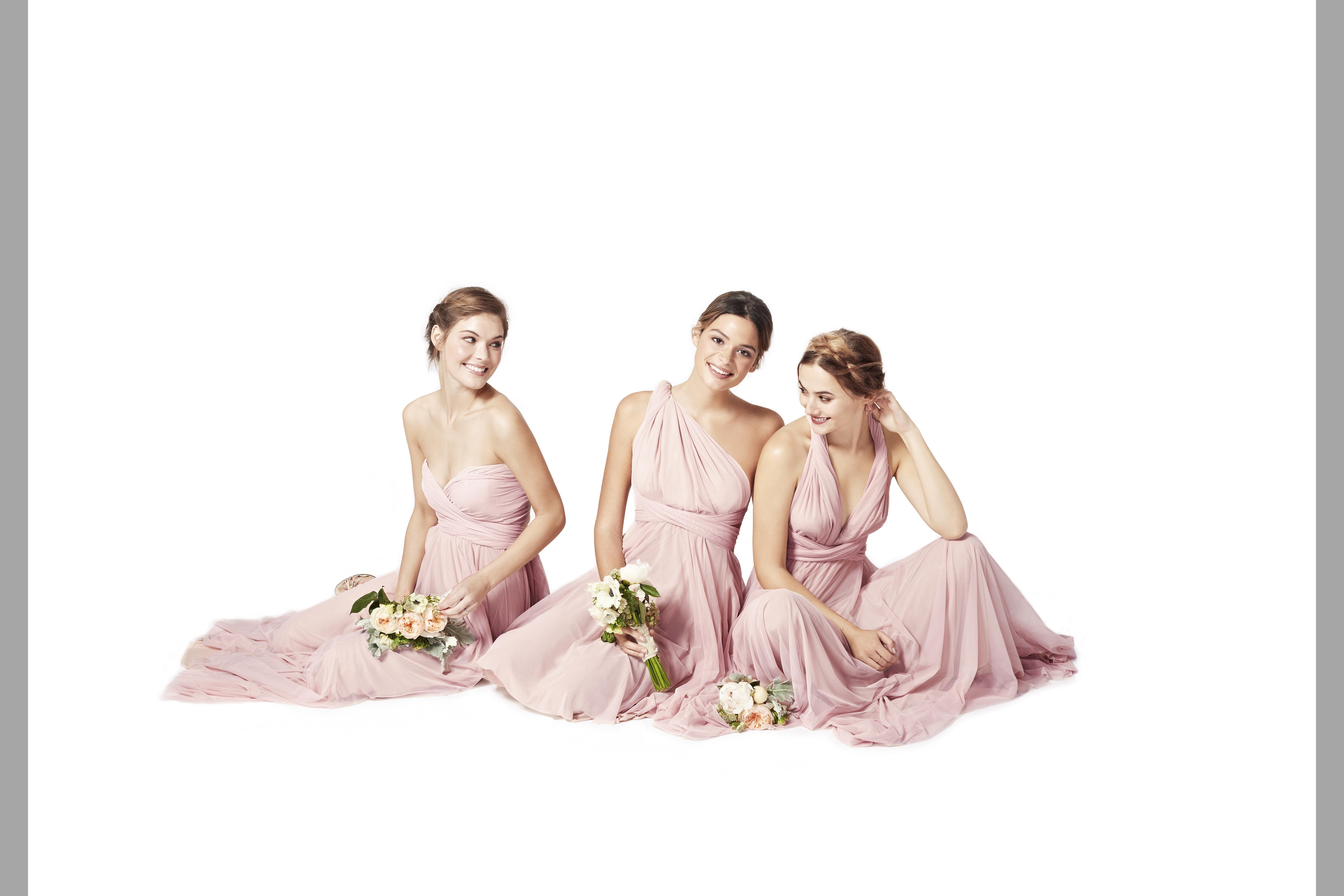 bridebook.co.uk-twobirds pink full length dresses