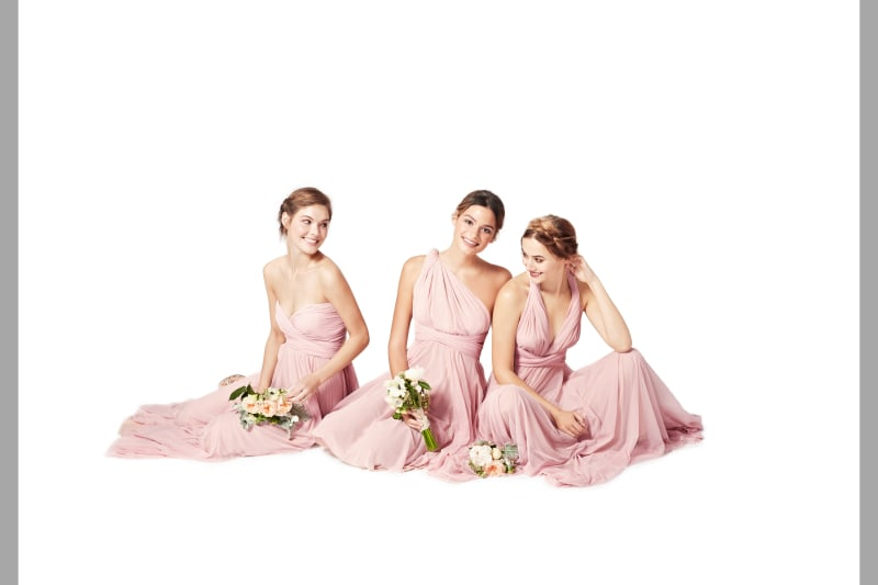 bridebook.co.uk-twobirds pink full length dresses