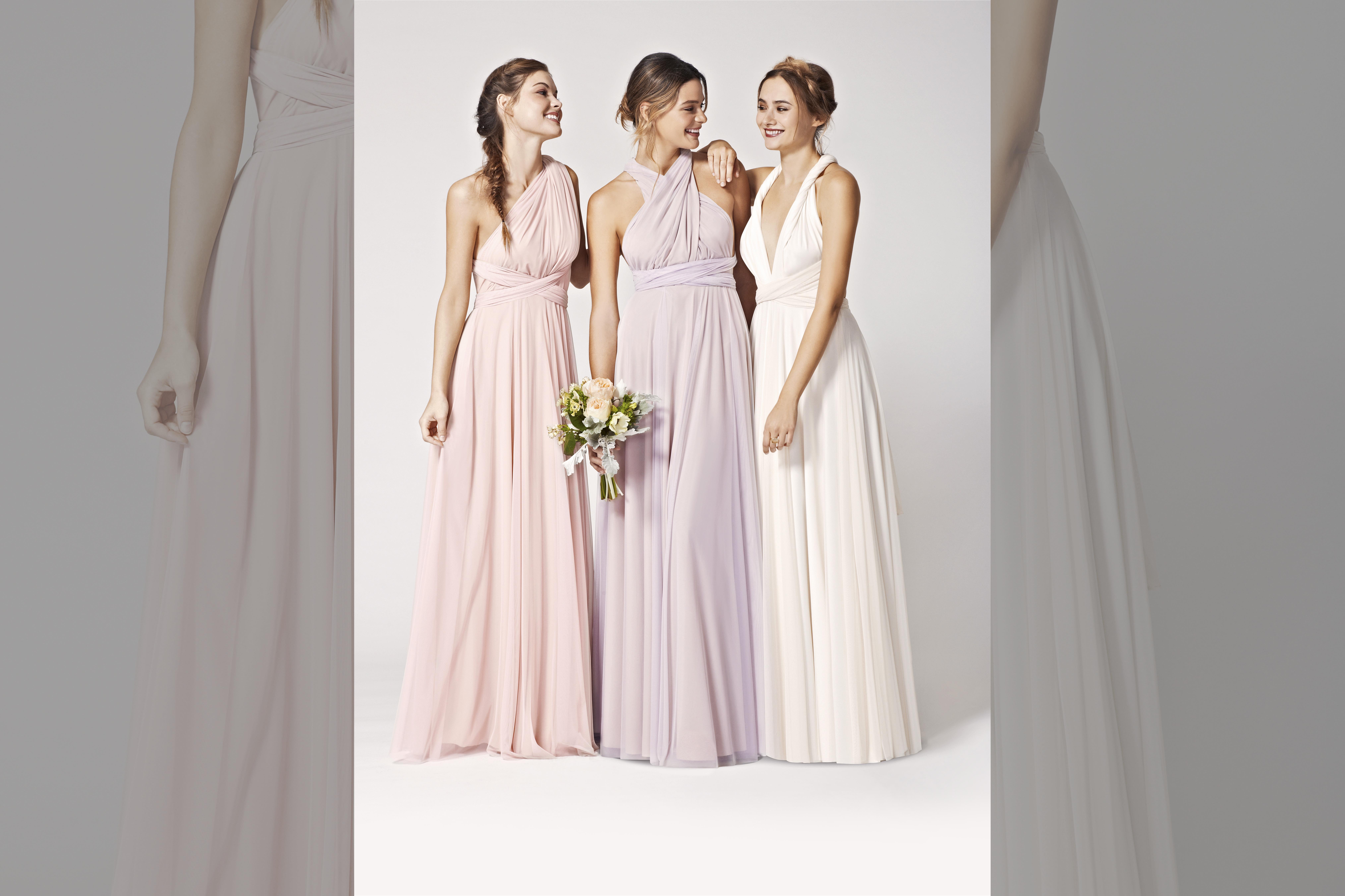 bridebook.co.uk-twobirds multiple dress colours