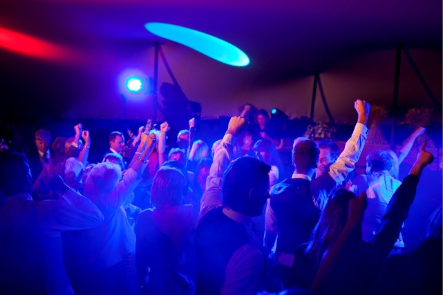 Bridebook.co.uk - guests partying during wedding reception