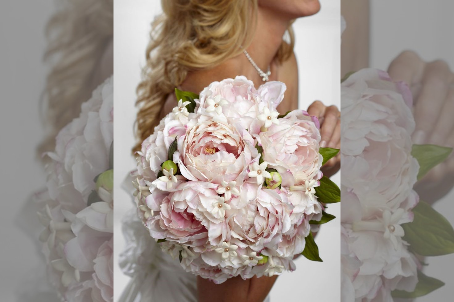Bridebook.co.uk- pink peonies bridal bouquet
