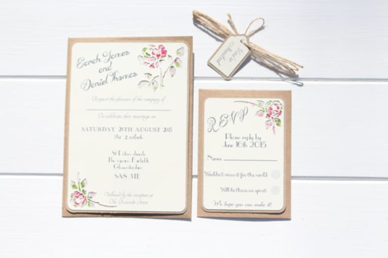 Bridebook.co.uk- rustic wedding invitations tied with twine