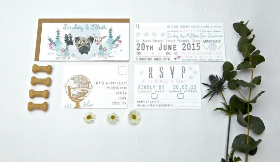Bridebook.co.uk- bespoke invitation suite