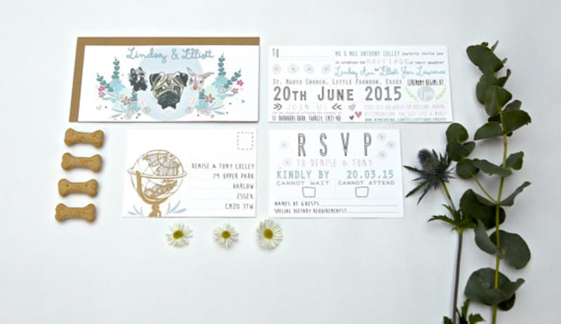 Bridebook.co.uk- bespoke invitation suite