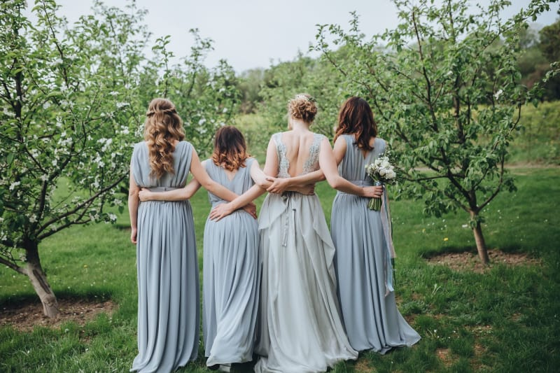 Bridebook.co.uk bridesmaids in blue