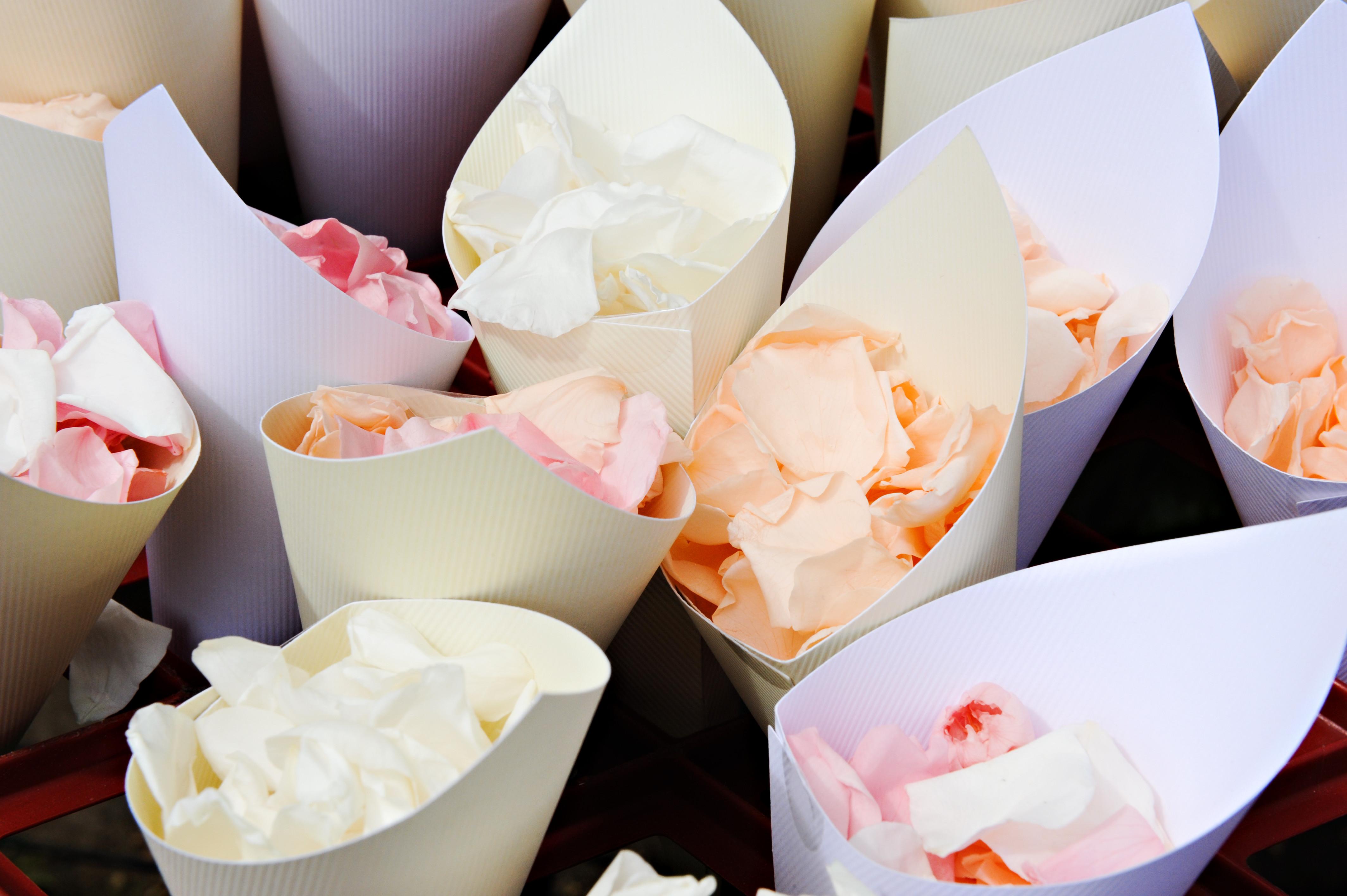 Bridebook.co.uk- Pastel coloured confetti cones