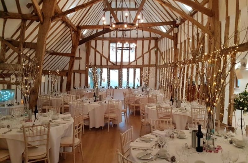 Beautiful rustic barn wedding venue