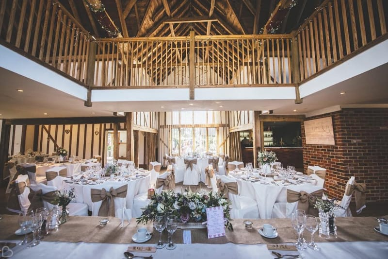 maiden's barn decorated for a venue a barn wedding venue in essex