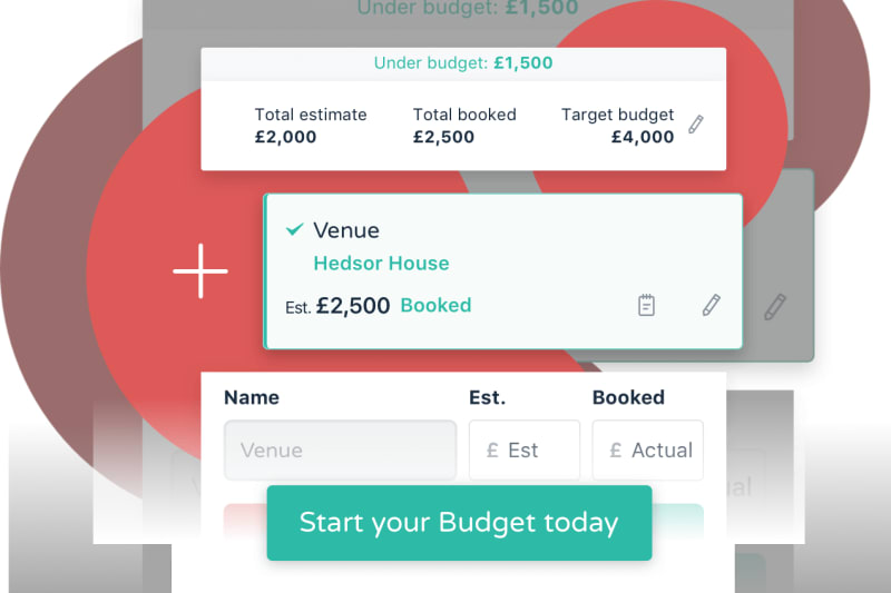 Screenshot of Bridebook app Budget Tool