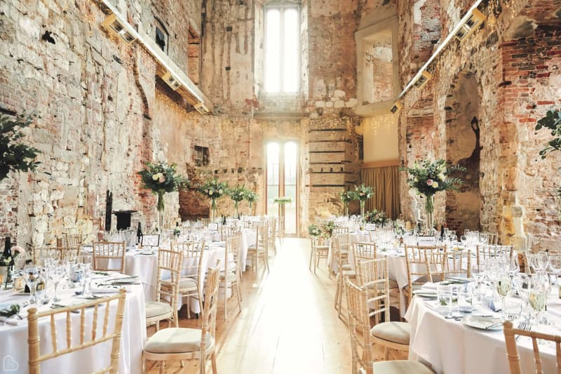 lulworth castle interior set up for a wedding