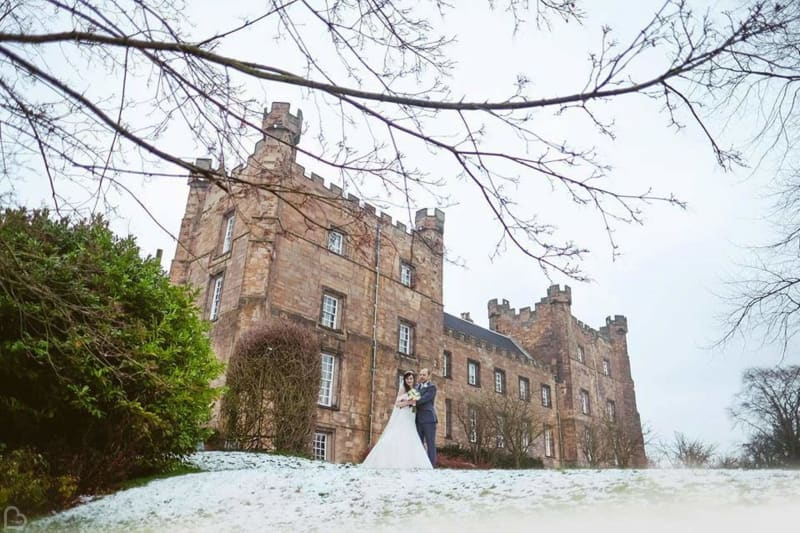 lumley castle in the winter