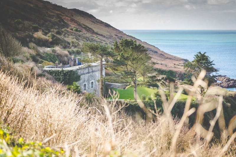 polhawn fort overlooking the sea - a castle wedding venue in the UK