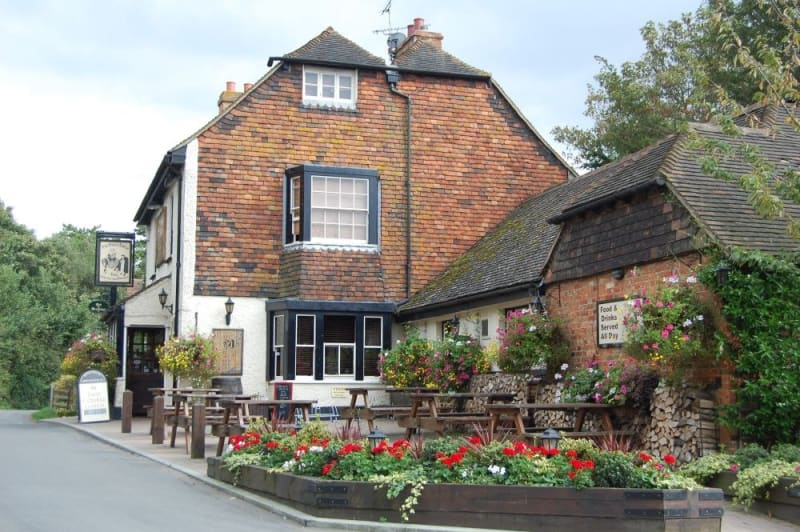 The black horse inn.