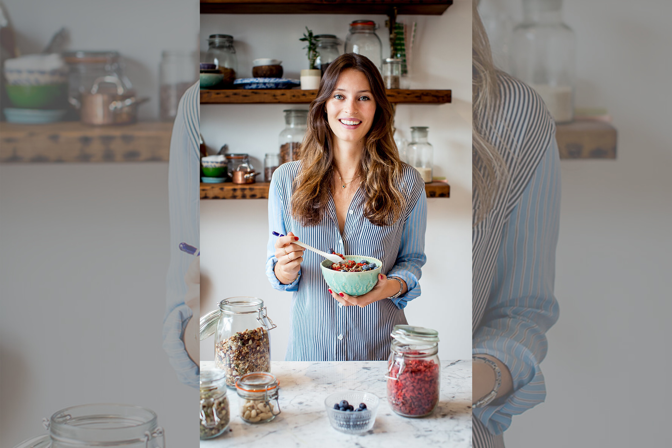 Briebook.co.uk-deliciously-ella-holding-a-bowl-of-cereal-smiling
