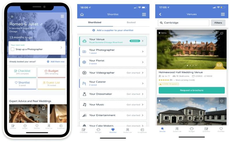 Bridebook free wedding planning app