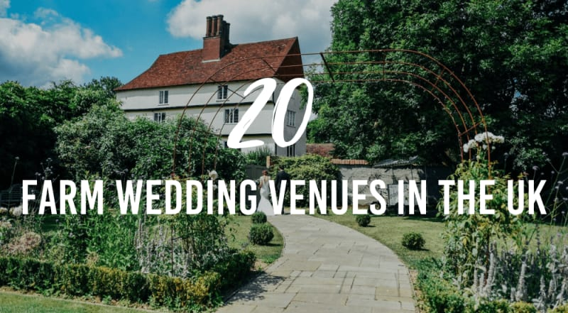 farm wedding venues in the UK cover photo