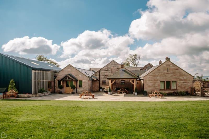 heaton house farm on a sunny day