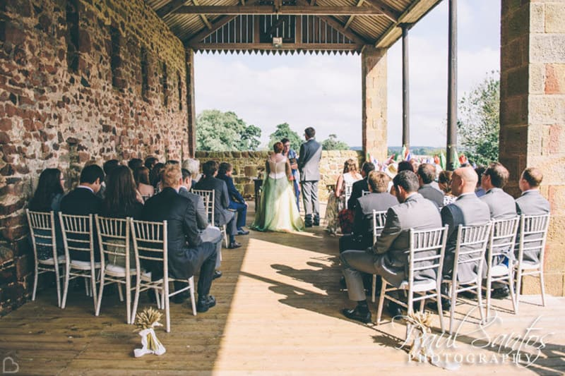 wedding ceremony in high house farm