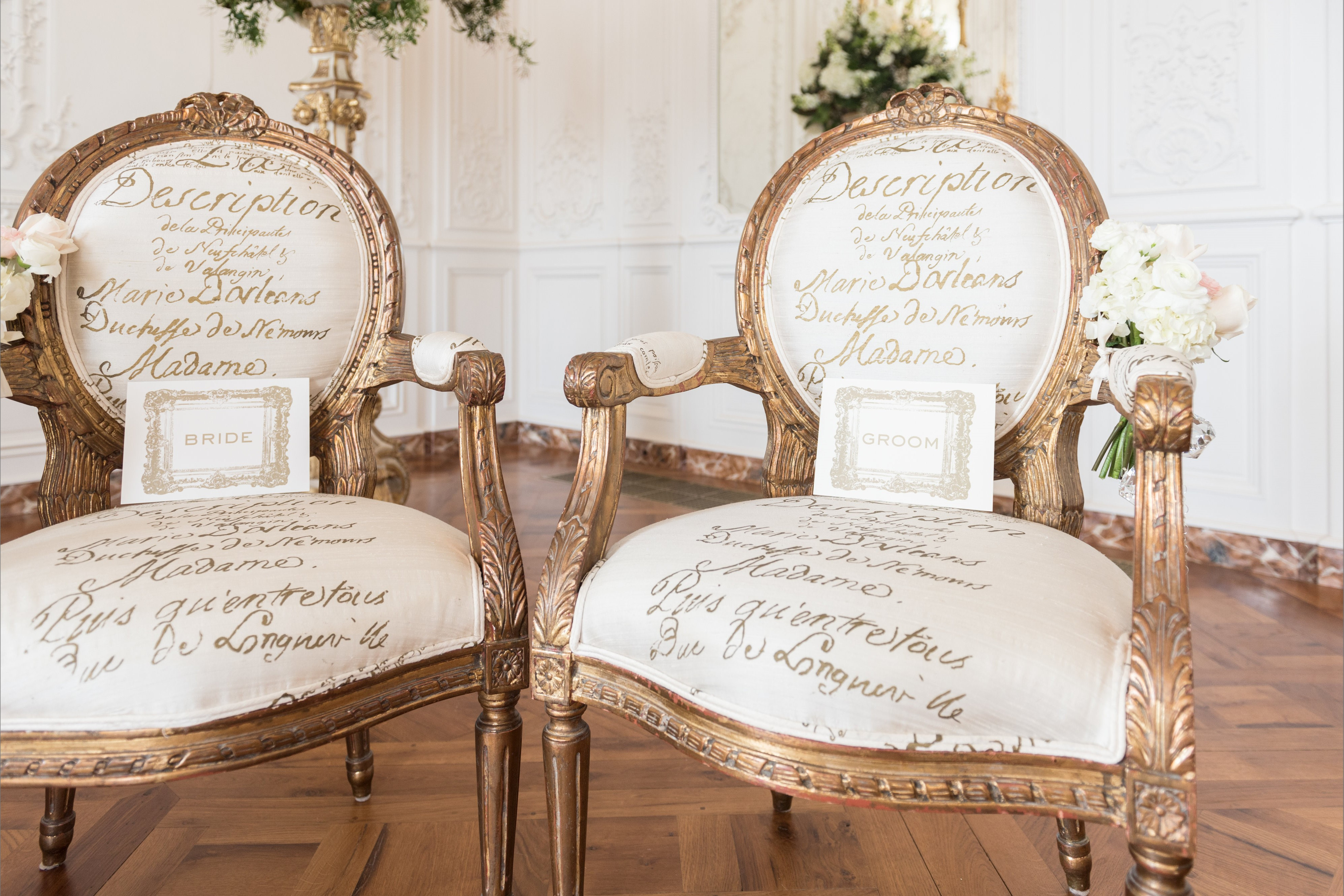 bridebook.co.uk two antique chairs