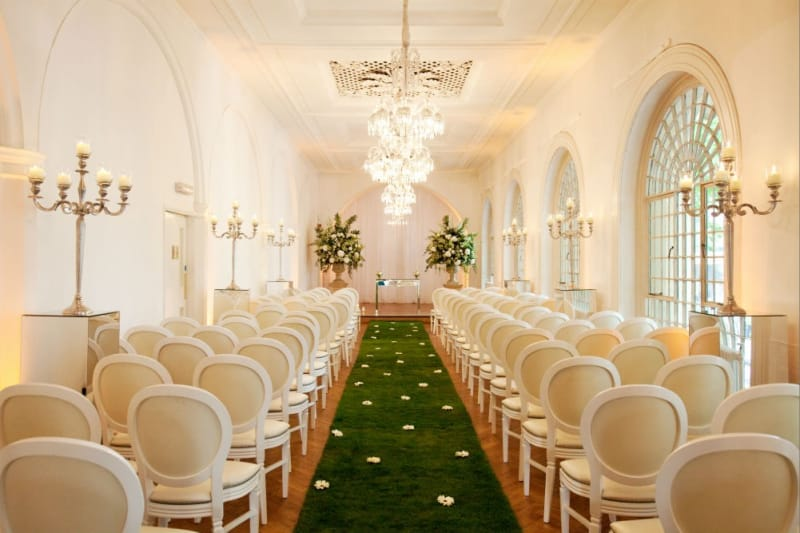 bridebook.co.uk wedding aisle with grass