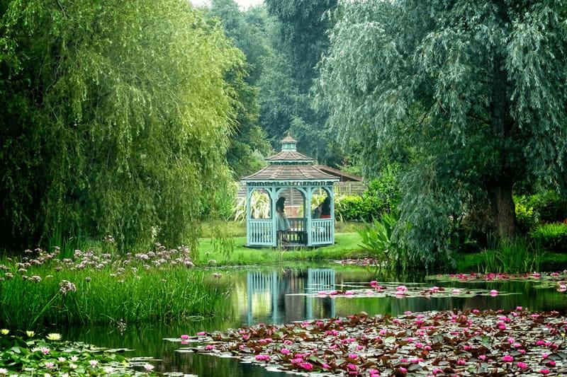 Bennets Water Gardens gazeebo.