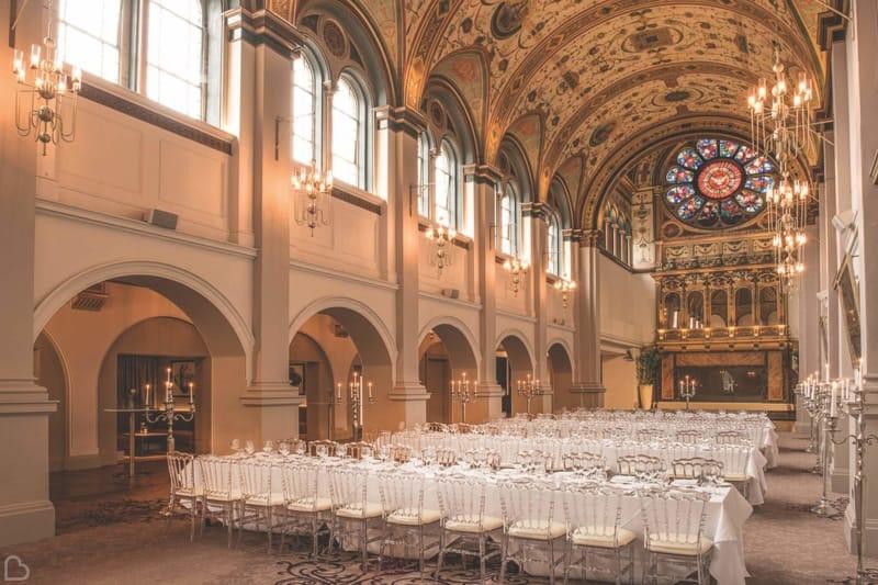 de vere windsor interior decorated for a wedding
