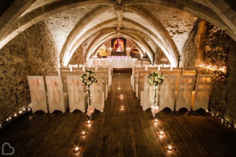 George Vaults a small wedding venue in the uk