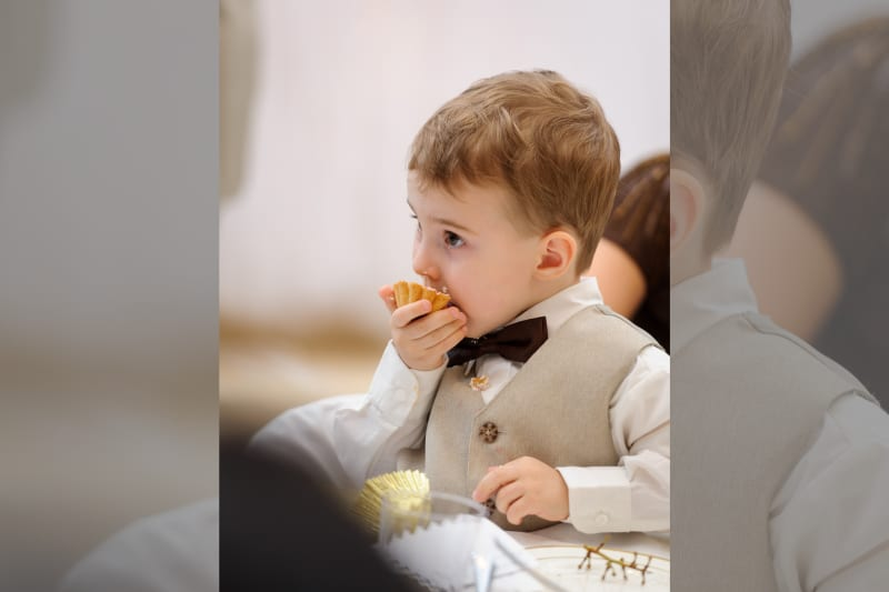 Bridebook.co.uk page boy eating