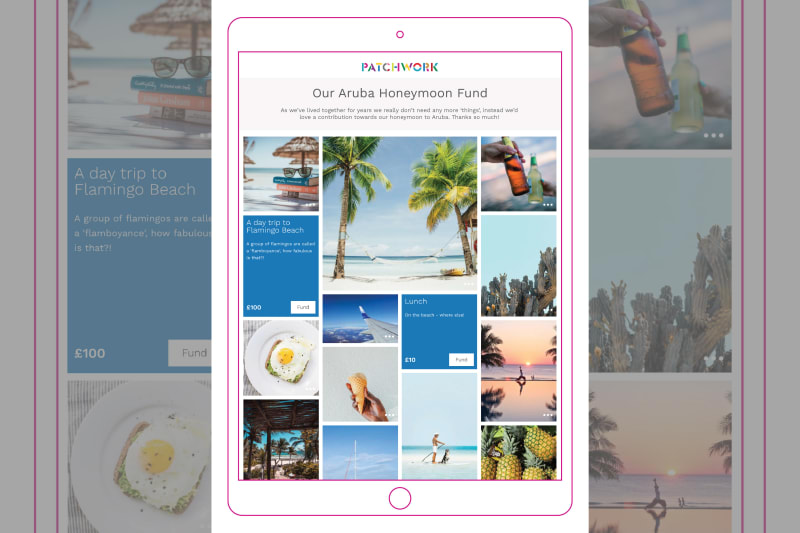Patchwork Aruba honeymoon fund