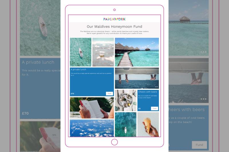 Patchwork Maldives honeymoon fund