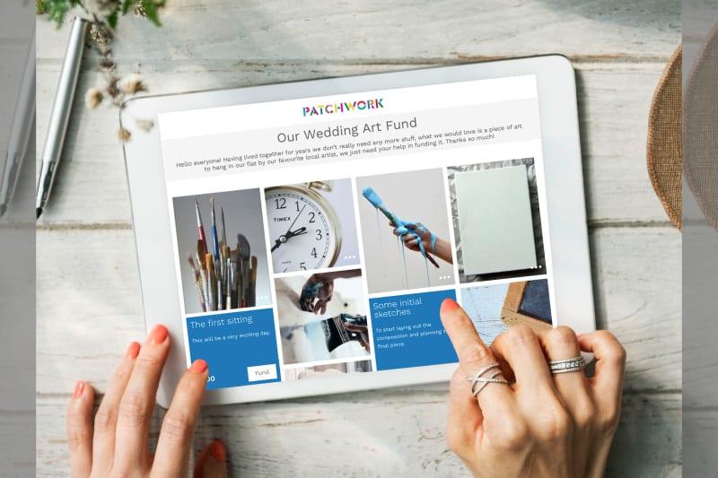 Patchwork Wedding Registry art fund