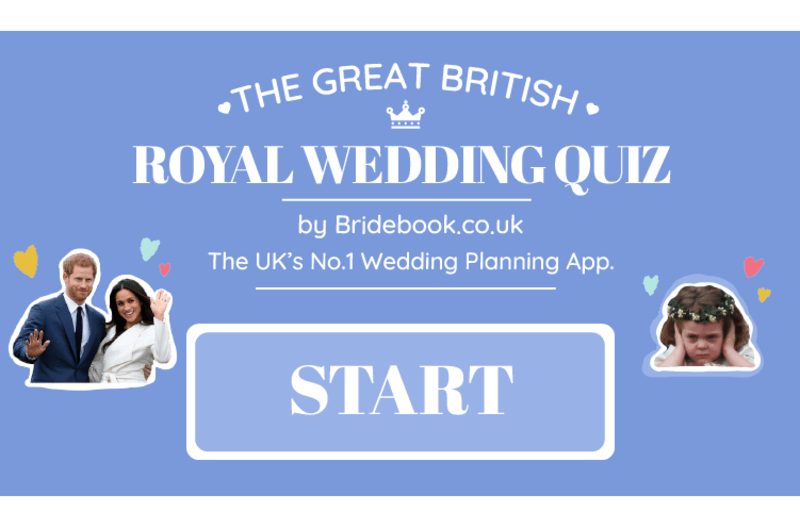 royal wedding quiz cover photo blue harry and meghan and flower girl