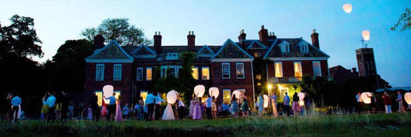 Countryside Venue with glowing lanterns
