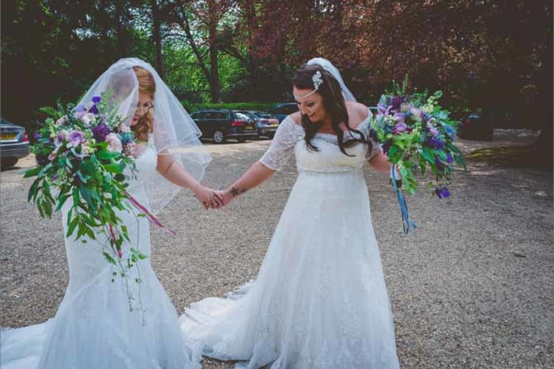 bridebook.co.uk real weddings whimsical wonderland weddings same sex classic wedding