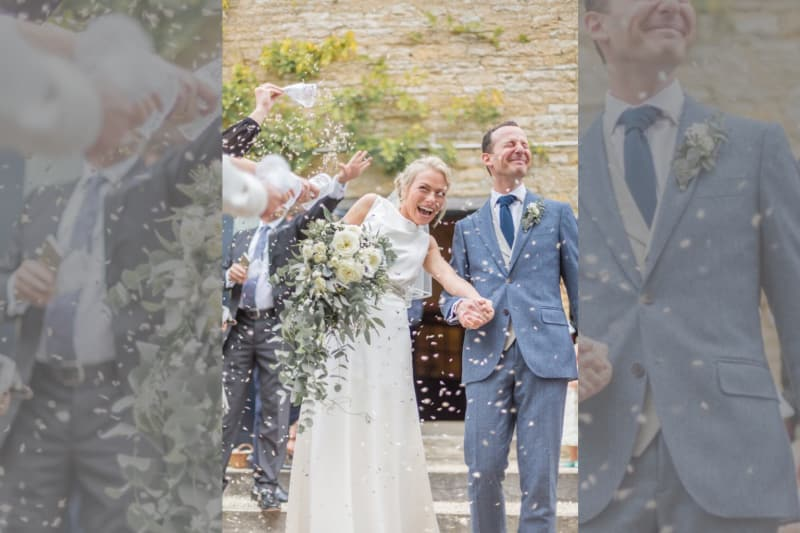 bridebook.co.uk real wedding confetti shot
