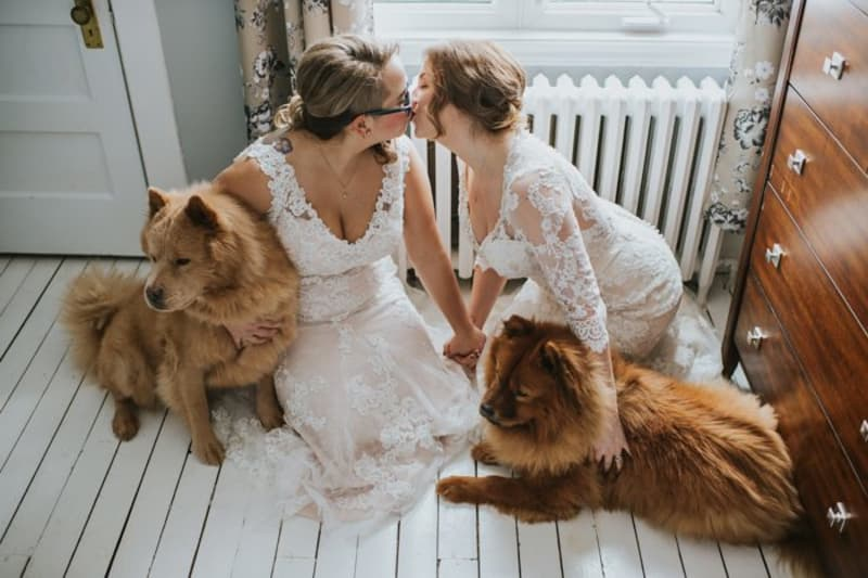 bridebook.co.uk real weddings jundebug same sex winter wedding