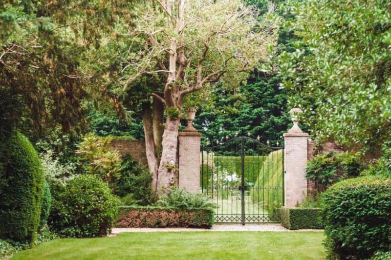 The gate to the garden.