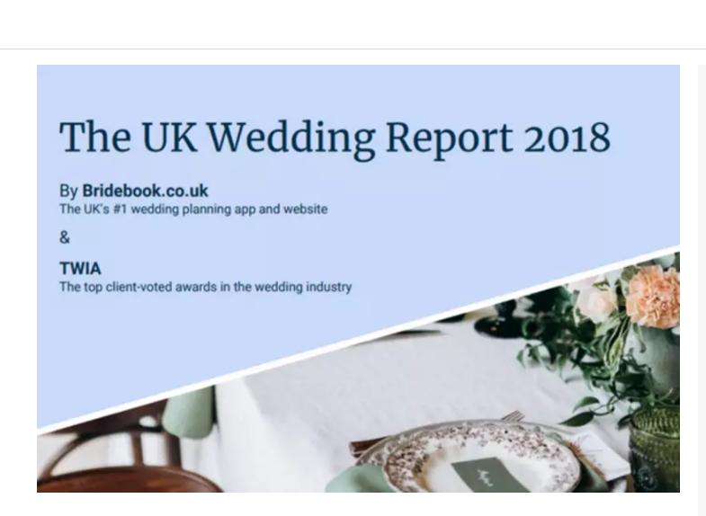 1f697e057b8 Bridebook Wedding Report 2018