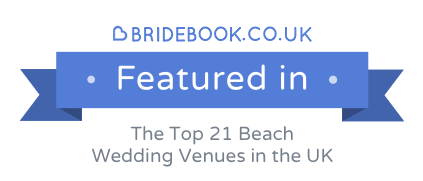 Lusty Glaze Beach featured in Best Beach Wedding Venues in the UK article on Bridebook